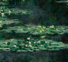 Waterlilies by Claude Monet Sticker