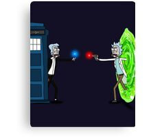 RICKTIONS IN TIME AND SPACE Canvas Print