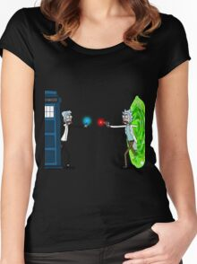 RICKTIONS IN TIME AND SPACE Women's Fitted Scoop T-Shirt