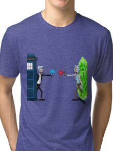 RICKTIONS IN TIME AND SPACE Tri-blend T-Shirt