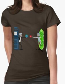 RICKTIONS IN TIME AND SPACE Womens Fitted T-Shirt