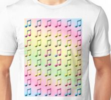 Rainbow Musical Notes Abstract One Unisex T-Shirt