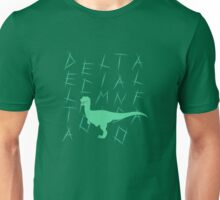 Delta the Raptor Silhouette Unisex T-Shirt