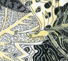 Leaves 28 Mixed Media - Ink on Acrylic Monoprint Sticker