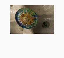 Stylized Sun - Antoni Gaudi's Ceiling Medallion at Hypostyle Room in Park Guell - Left Horizontal Unisex T-Shirt