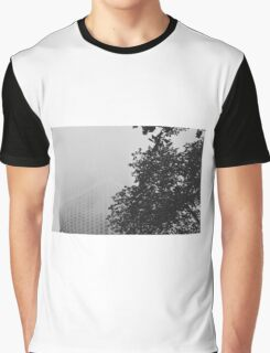 Foggy City Trees Graphic T-Shirt