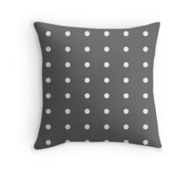 Black and white dots Throw Pillow