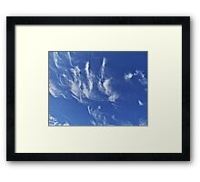 HCS Cirrus Flying© Framed Print