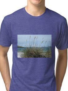 Atlantic Outlook - Seilebost Beach, Western Isles, Scotland Tri-blend T-Shirt