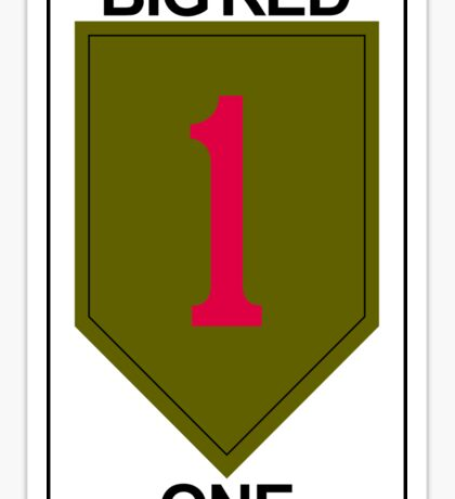 1st Infantry Division Big Red One US Army USA Fort Riley Kansas Sticker