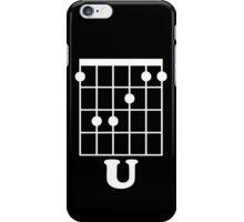 Fun Guitar Tshirt, F Chord U Guitar Tshirt, F*ck You Says On Guitars Chord iPhone Case/Skin