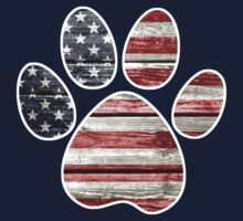 Dog Paw Print, American Flag by NestToNest