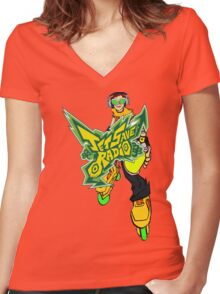 Jet Save Radio Women's Fitted V-Neck T-Shirt
