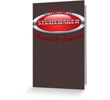 Studebaker  badge T Shirt  Greeting Card