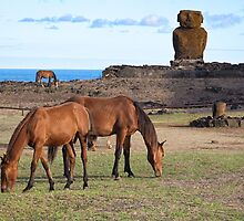 Anekana Beach #2 , Rapa Nui, Chile - March 8th 2016 by Graham Gilmore