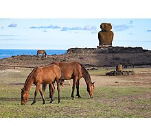 Anekana Beach #2 , Rapa Nui, Chile - March 8th 2016 Photographic Print