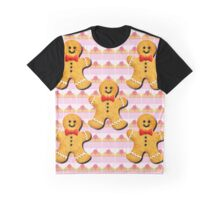 Sweet Cupcakes and Gingerbread Men Graphic T-Shirt
