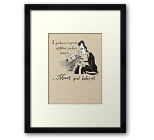 Nick Cave - To the toiler, the spoils. Framed Print