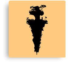 Plastic Beach Island Silhouette (Gorillaz) Canvas Print