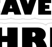 Good Heavens Chris Evans (black) Sticker