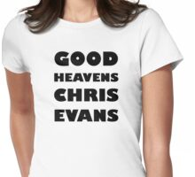 Good Heavens Chris Evans (black) Womens Fitted T-Shirt