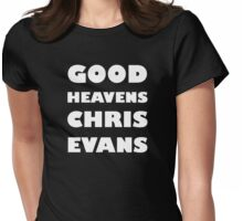 Good Heavens Chris Evans (white) Womens Fitted T-Shirt