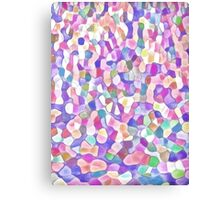 Pastel Pieces Canvas Print