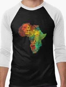 africa Men's Baseball ¾ T-Shirt