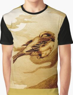 Sparrow by Moonlight Graphic T-Shirt