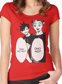 Haikyuu: Bokuto And Kuro OHO HO HO Women's Fitted Scoop T-Shirt