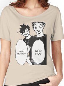 Haikyuu: Bokuto And Kuro OHO HO HO Women's Relaxed Fit T-Shirt