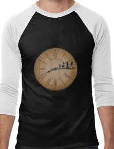 Stained Glass on the Clock Tower Men's Baseball ¾ T-Shirt