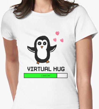 Virtual Hug Loading Womens Fitted T-Shirt
