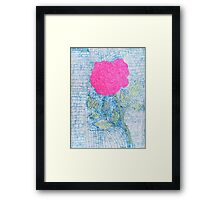 Pen and Ink Vibrant Rose Framed Print