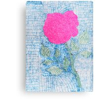 Pen and Ink Vibrant Rose Canvas Print