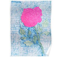 Pen and Ink Vibrant Rose Poster