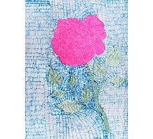 Pen and Ink Vibrant Rose Photographic Print