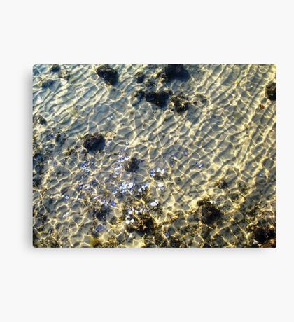 """""""Water Patterns"""" - The Beauty Of An Unspoilt Island Canvas Print"""