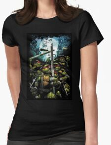 Teenage Mutant Ninja Turtles - TMNT Retro Womens Fitted T-Shirt