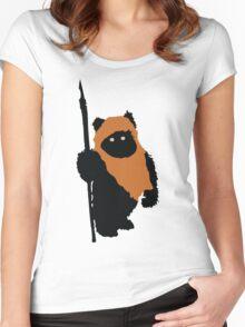 Ewok Bear, Star Wars Women's Fitted Scoop T-Shirt