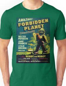 Vintage Sci-fi Movie Forbidden Planet, Robot Unisex T-Shirt