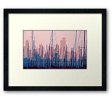 City Harbour Skyline Framed Print