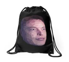 Low Poly Hero: Elon Musk – Drawstring Bags Drawstring Bag