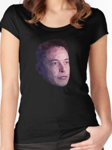 Low Poly Hero: Elon Musk – Shirts & Hoodies Women's Fitted Scoop T-Shirt