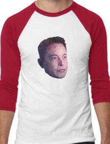 Low Poly Hero: Elon Musk – Shirts & Hoodies Men's Baseball ¾ T-Shirt