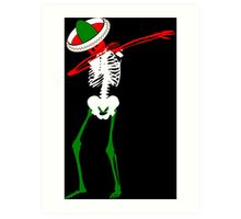 Cinco de Mayo Dab Skeleton Art Print