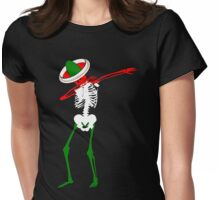 Cinco de Mayo Dab Skeleton Womens Fitted T-Shirt