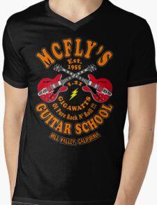 McFly's Guitar School Colour Mens V-Neck T-Shirt