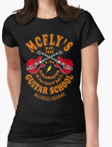 McFly's Guitar School Colour Womens Fitted T-Shirt