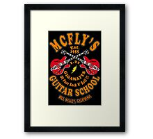 McFly's Guitar School Colour Framed Print